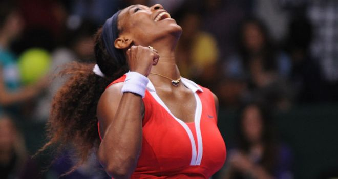 Serena Williams: Finished the year in style with a 10th career victory over Maria Sharapova