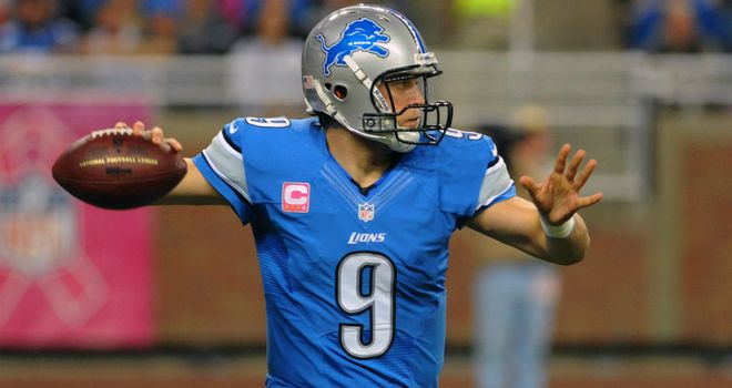 Matthew Stafford: threw for 352 yards and three touchdowns for the Lions