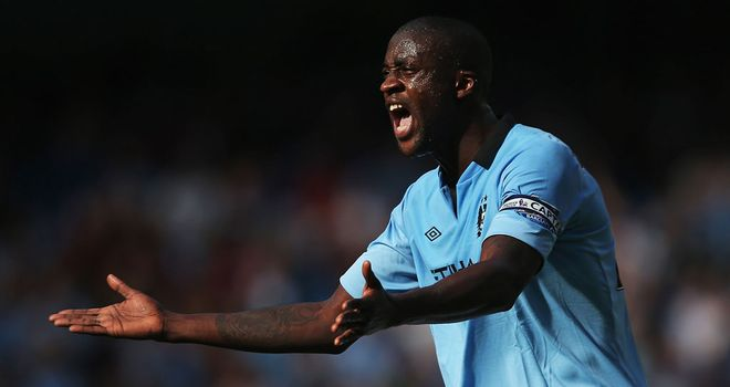 "Yaya Toure has told his Manchester City team-mates now is the time for ""tough men"""