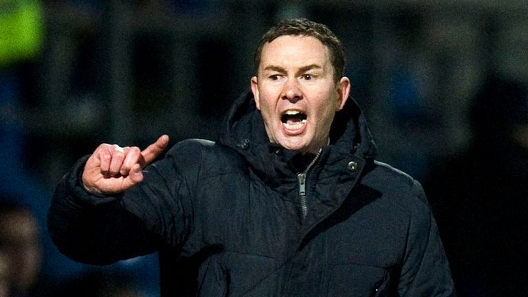 Derek Adams: Felt his side gifted Motherwell victory