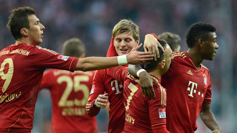 Bayern Munich: Celebrating against Hannover