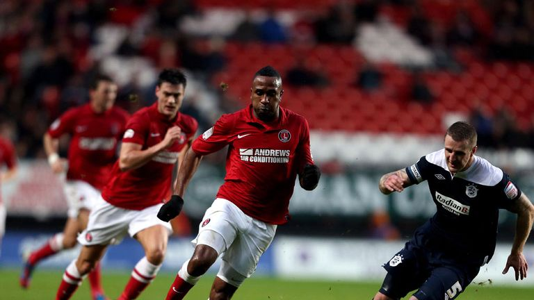 Ricardo Fuller: Drives forward for Charlton