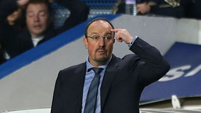 Benitez: booed by home fans before kick-off