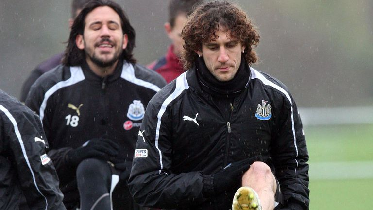 Fabricio Coloccini: Training with Newcastle as speculation continues over future