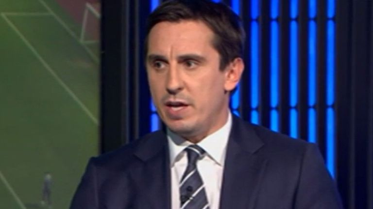 Gary Neville: Believes Mancini may be in trouble if Manchester City fails to retain title