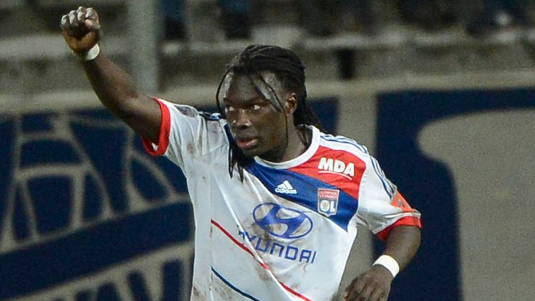 Bafetimbi Gomis: Lyon striker has been linked with a move to Liverpool and Chelsea