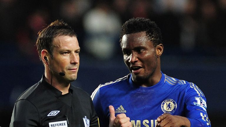 John Obi Mikel: Has been heavily sanctioned for his comments towards Mark Clattenburg