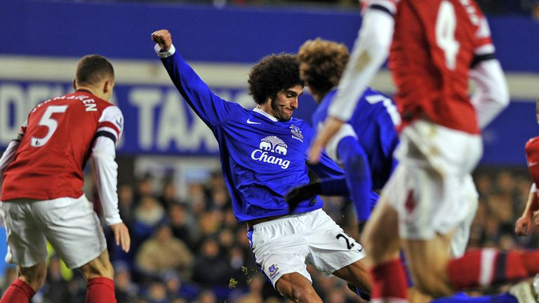 Marouane Fellaini: Goalscoring return from suspension