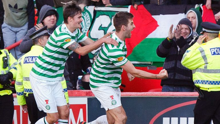 Charlie Mulgrew: Celebrates second for Celtic