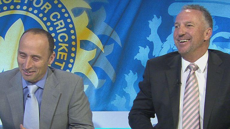 Hussain and Botham: enjoyed England's fine day