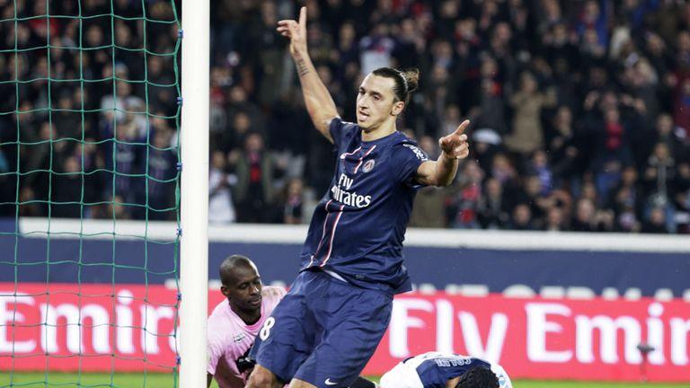 Zlatan Ibrahimovic: Celebrates goal for PSG