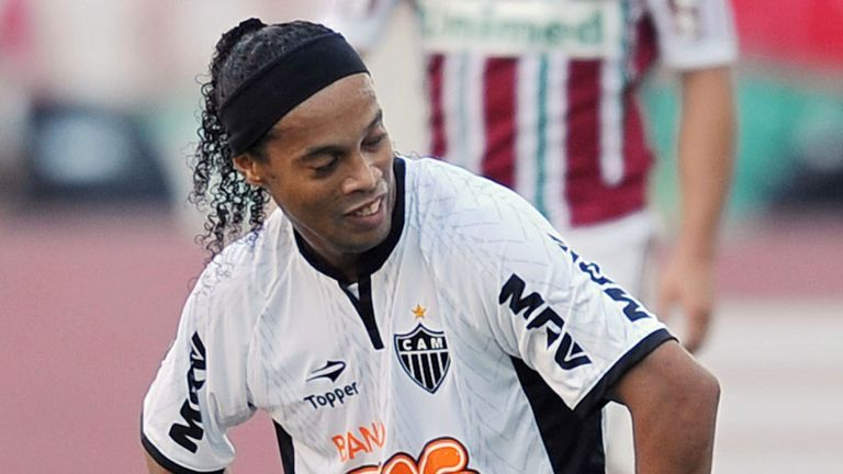 Ronaldinho: Linked with a move to Blackburn but says he is happy in Brazil