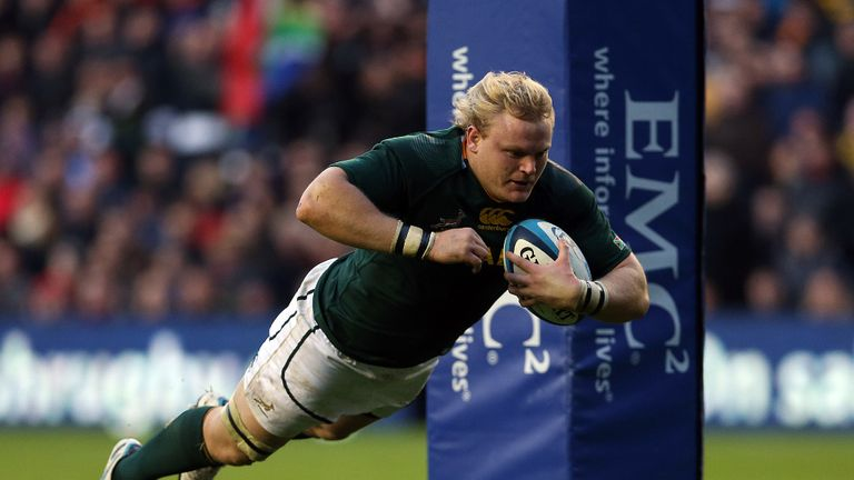 Adrian Strauss: Two tries for South Africa in their 21-10 win over Scotland