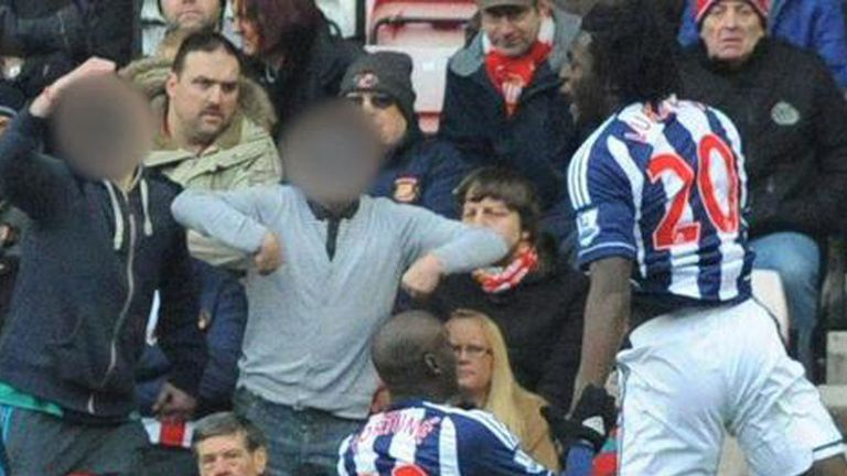 Investigation launched into alleged racist gesture by fan towards West Brom striker Romelu Lukaku