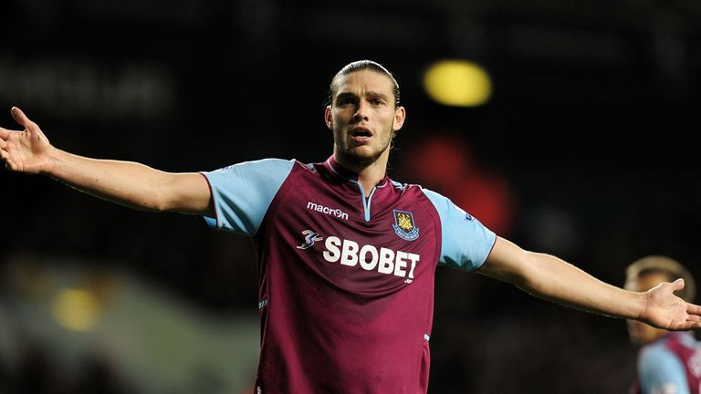 Andy Carroll: Opened his West Ham account at Spurs
