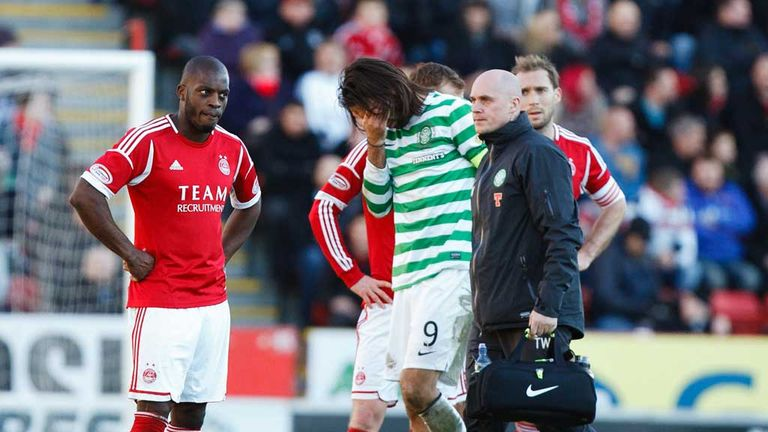 Georgios Samaras: Celtic striker leaves Pittodrie pitch
