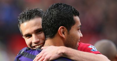 Santos and van Persie: Friends reunited