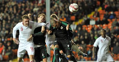 Connor Wickham heads England ahead against Northern Ireland