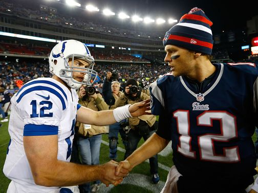 Andrew Luck couldn't get the better of Tom Brady.