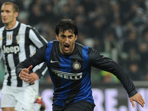 Diego Milito: On target twice for Inter