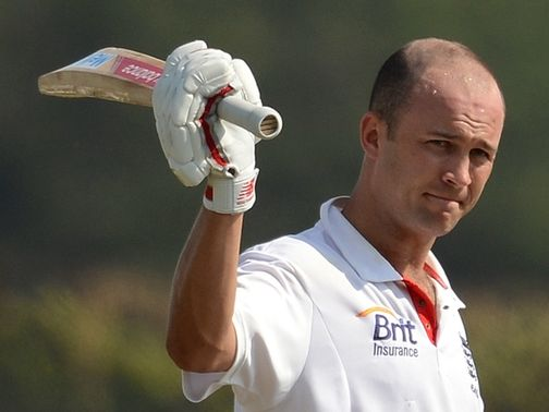 Jonathan Trott made 101 for England before opting to retire from the crease