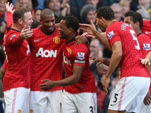 Patrice Evra: On target against Arsenal