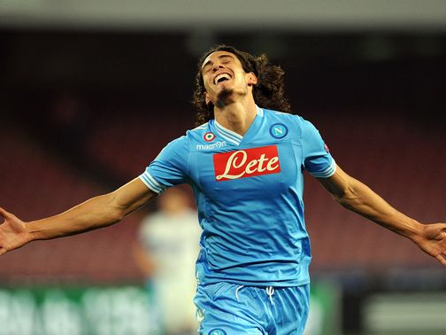 Edinson Cavani scored all four goals for Napoli