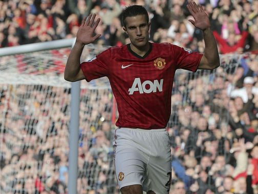 Robin van Persie scored an early goal for United