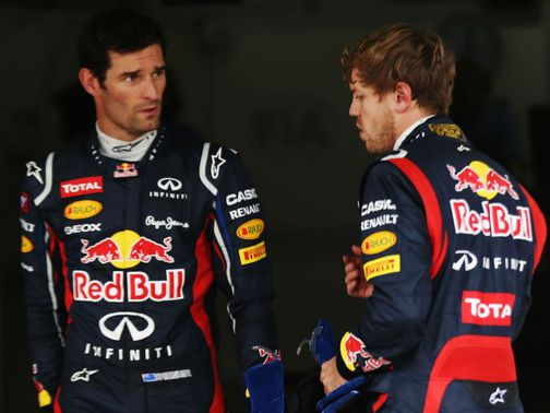 Webber (left): Brushed off comments