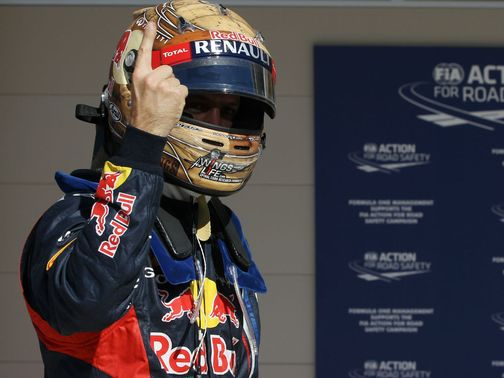 Sebastian Vettel starts from pole position once again