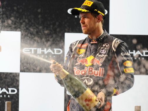 Sebastian Vettel: Happy to finish third