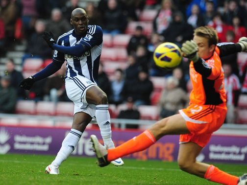 Marc-Antoine Fortune scored West Brom&#39;s fourth goal