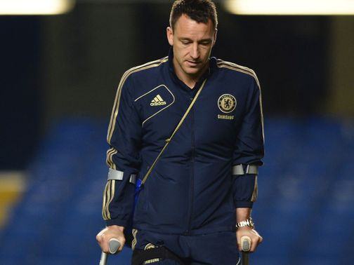 John Terry: Continues to recover from ligament damage