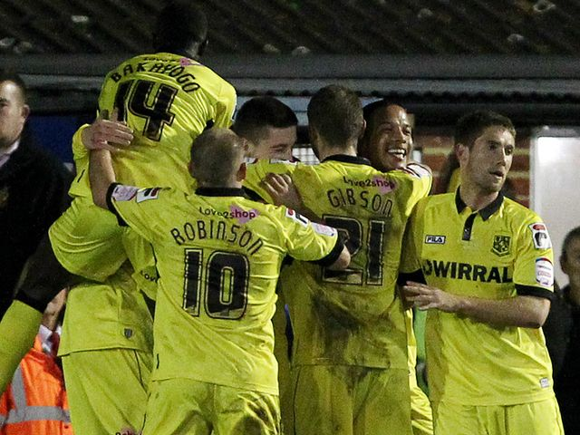 Tranmere: Celebrating Thompson's opener