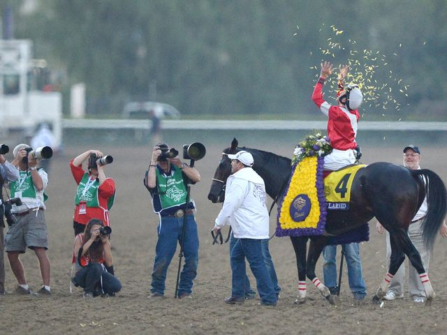Fort Larned after his Classic success