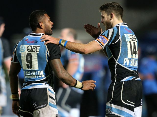 Celebrations for Glasgow Warriors.