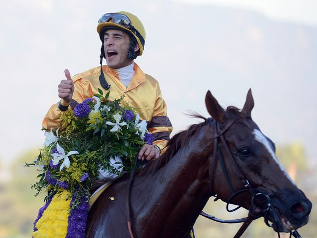 Velazquez after his victory on Wise Dan