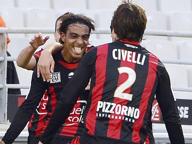 Fabrice Abriel celebrates his goal