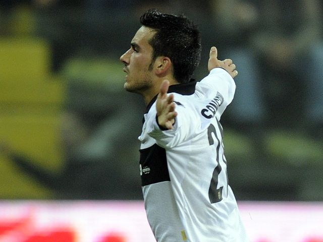 Nicola Sansone celebrates putting Parma ahead