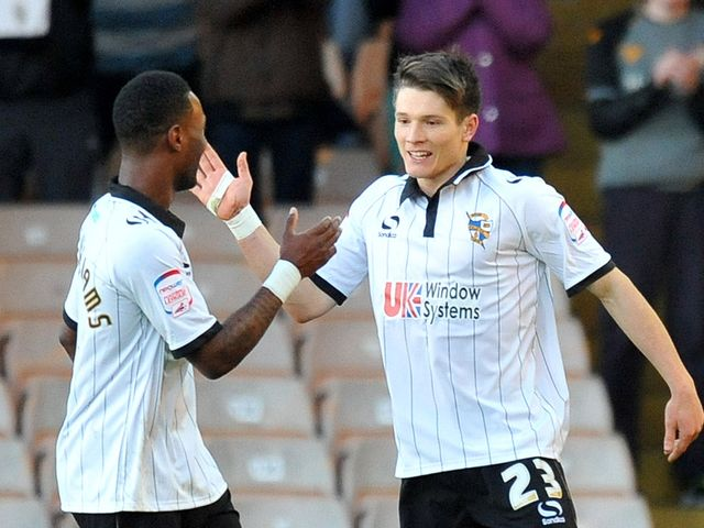 Jennison Myrie-Williams and Ryan Burge: Both scored for Vale