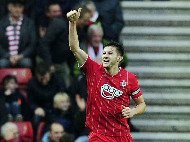 Adam Lallana scores the opening goal for Southampton