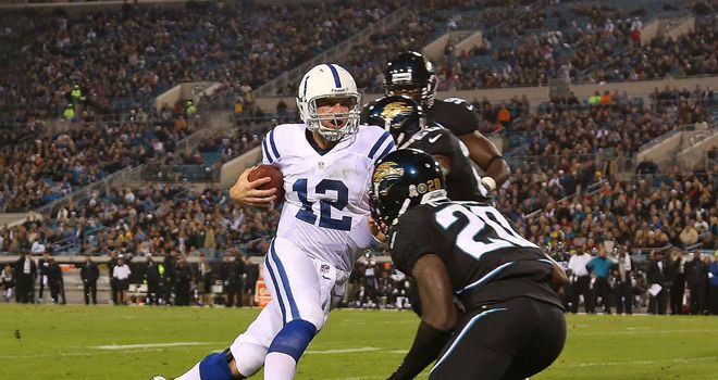Andrew Luck: Rushed for two touchdowns for the Colts