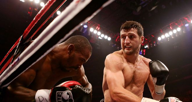 Carl Froch: on the offensive against Mack in Nottingham