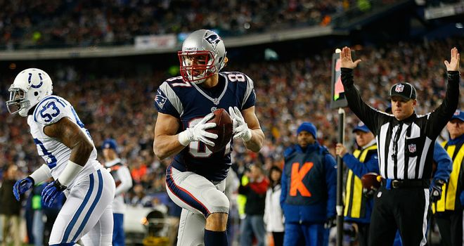 Rob Gronkowski: New England tight end caught pair of touchdowns before suffering a suspected broken forearm