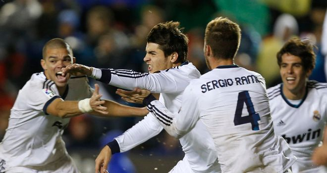 Alvaro Morata: Celebrates his winner for Real Madrid