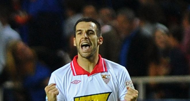 Alvaro Negredo: Scored a hat-trick in Sevilla's win