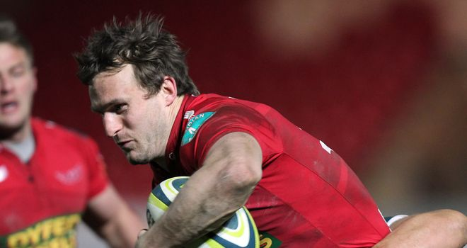 Andy Fenby: Scored the only try for Scarlets