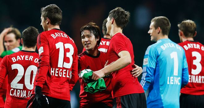 Leverkusen celebrate an emphatic away-day success