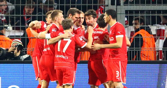 Fortuna Dusseldorf had plenty of reason to celebrate on Friday