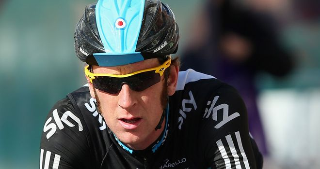 Bradley Wiggins: knocked off his bike in training